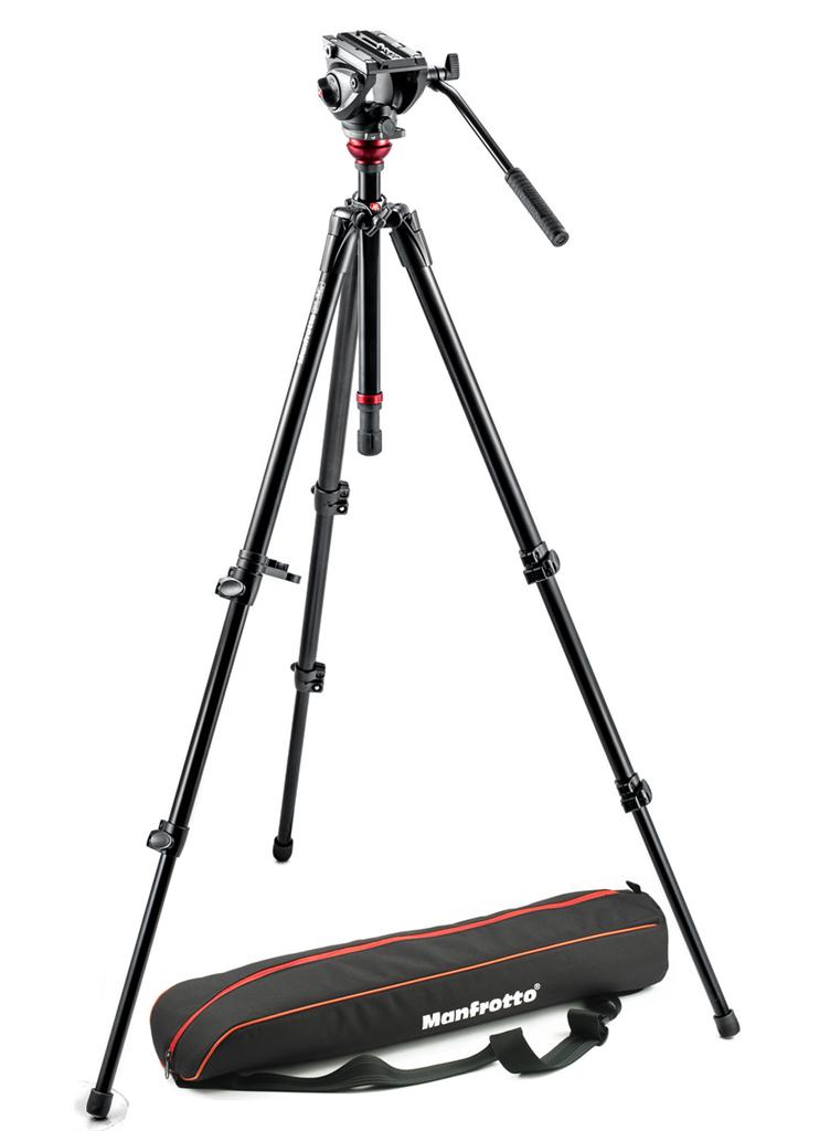 Manfrotto MVH 500AH,755XBK, VIDEO stativ s hlavou 500, SET aluminium