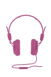 Modecom sluchátka MC-400 FRUITY PINK mikrofon a ovládání hlasitosti na kabelu