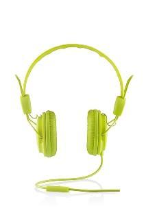 Modecom MC-400 FRUITY sluchátka s mikrofonem, zelená