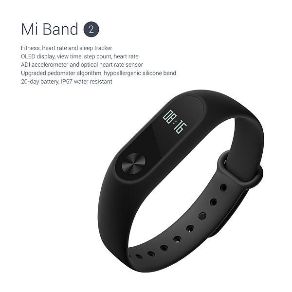 BAZAR_Xiaomi MiBand 2 Black bulk