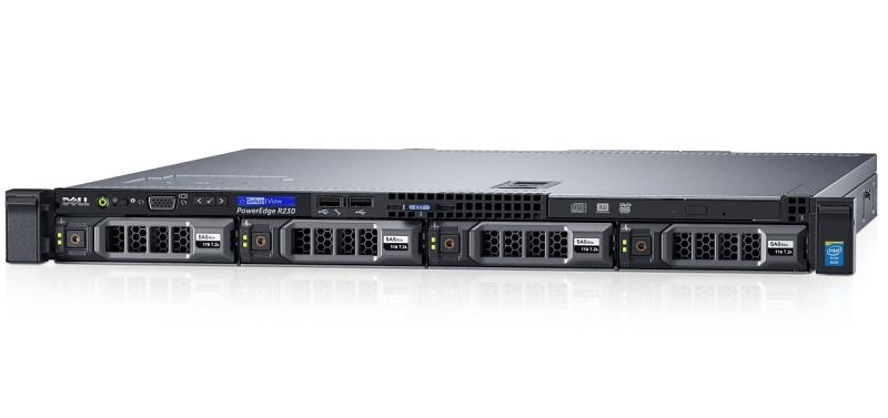 DELL server PowerEdge R230 E3-1220/16G/2x1TB NL-SAS/H330/2xGLAN/3r NBD