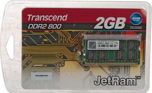 Transcend SODIMM DDR2 2GB 800Mhz Doživotní záruka
