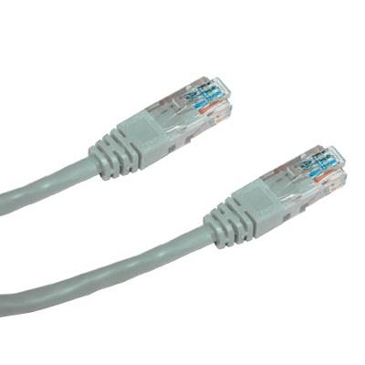 DATACOM Patch cord UTP CAT5E 0,25m šedý