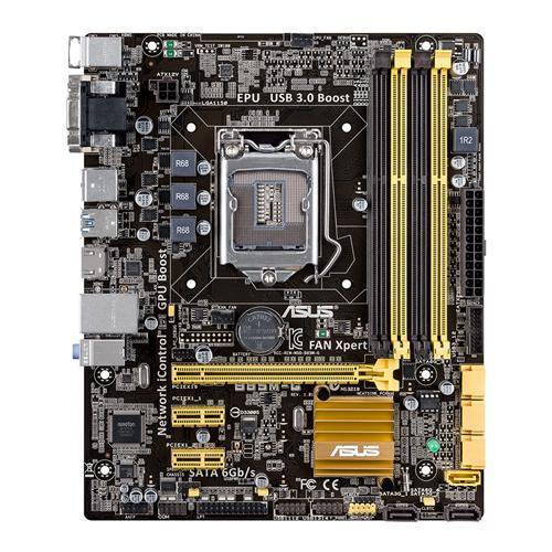 ASUS B85M-G, B85, DualDDR3-1600, SATA3, GBLAN, mATX