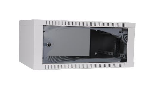 apra-optinet Závěsný rack ecoVARI 19'' 4,5U/400mm, jednodílna, skleněné dveře