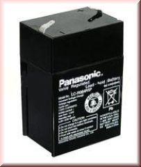Baterie - Panasonic LC-R064R5P (6V/4,5Ah - Faston 187)