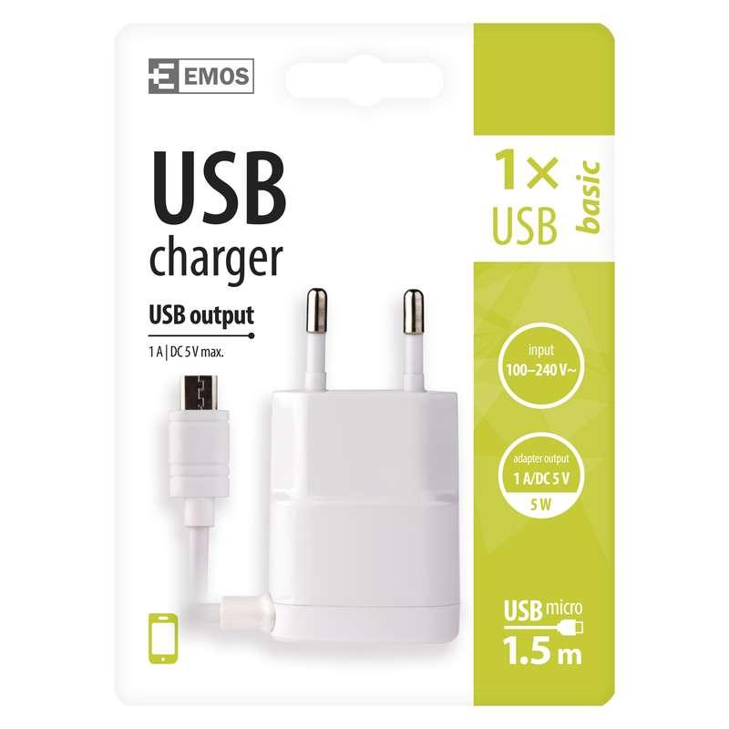 USB napájecí adaptér s kabelem (micro USB)
