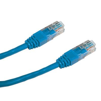 DATACOM Patch cord UTP CAT5E 0,5m modrý