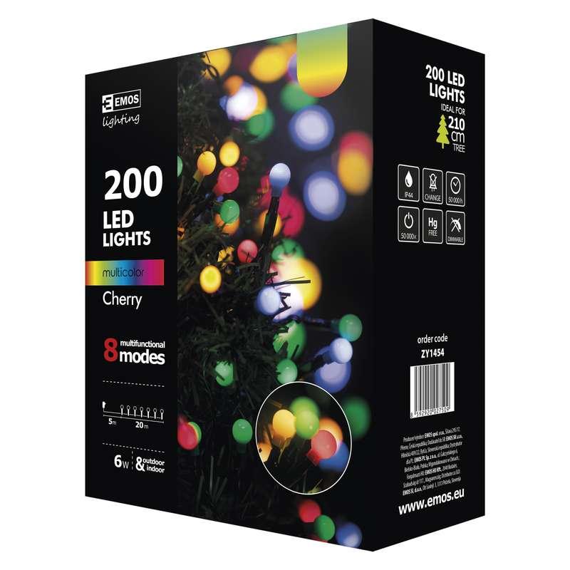 Vánoční řetěz 200LED-kuličky,20m,MULTICOLOR, 8modů