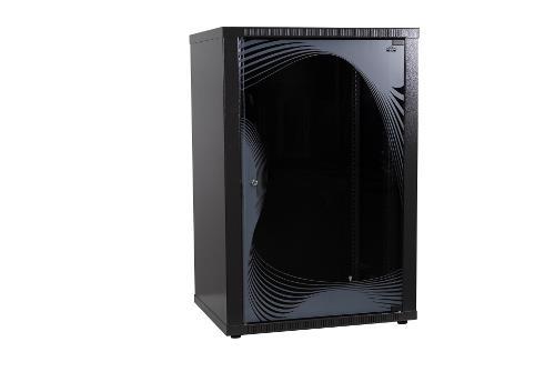 apra-optinet Závěsný rack ecoVARI 19'' 15U/450mm, jednodílna, skleněné dveře