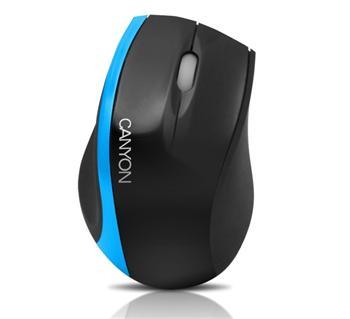 CANYON myš optická, 3tl., 800dpi, USB, černo-zelená