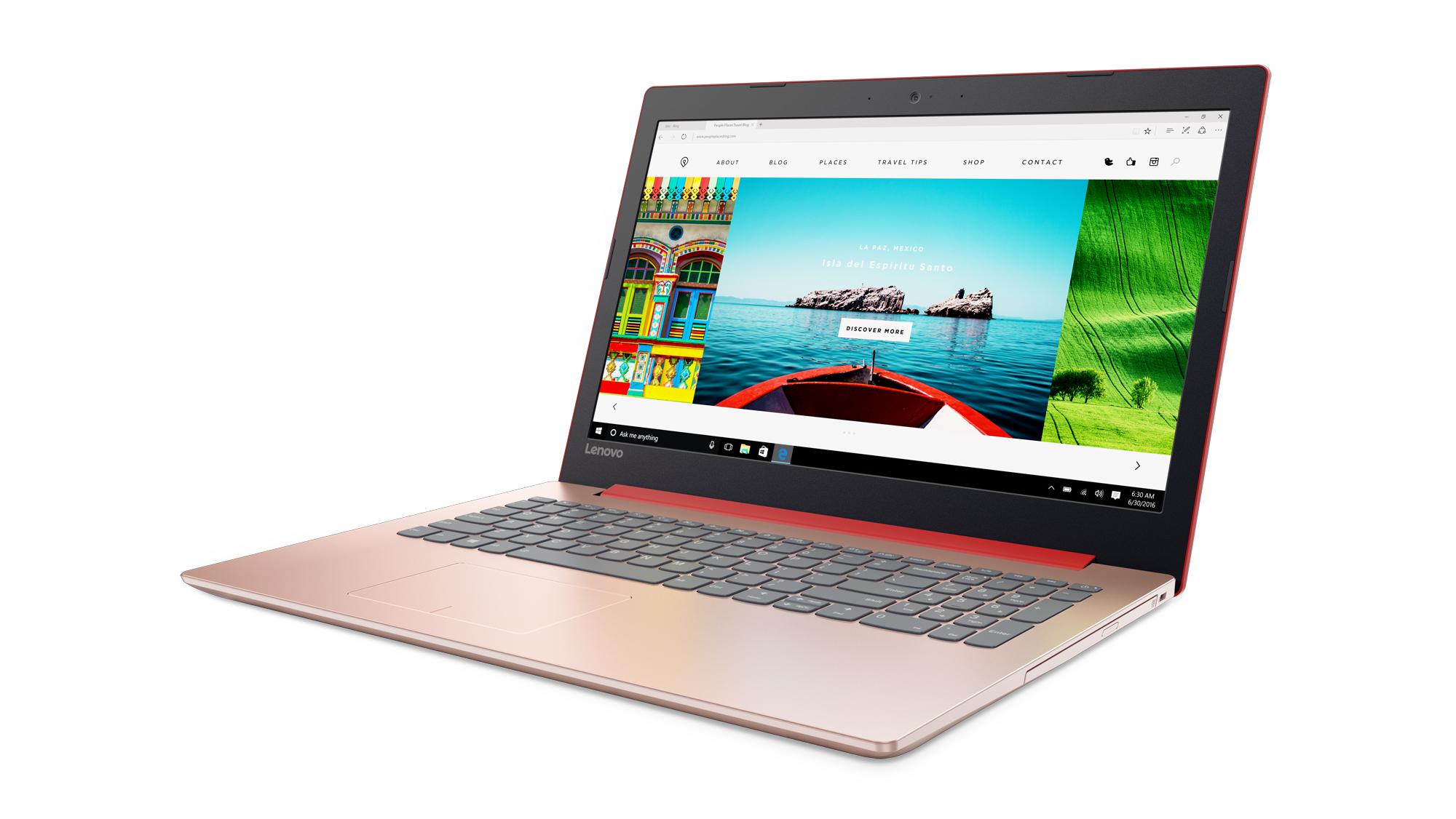 """Lenovo IdeaPad 320-15IKBN i3-7130U 2,70GHz/4GB/SSD 256GB/15,6"""" FHD/AG/WIN10 červená 80XL0364CK"""