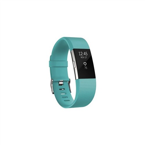 Fitbit Charge 2 Teal Silver - Large
