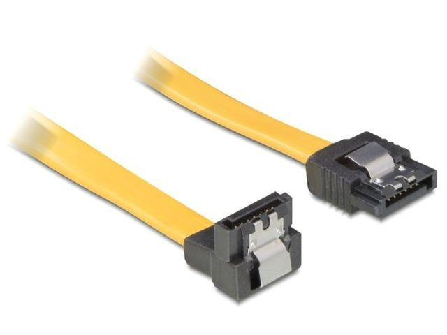 Delock cable SATA 100cm down/straight metal yellow