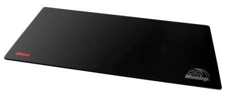 AKASA Podložka pod myš Venom Black XXL, tloušťka 3mm, přirodní pryž, odolná proti špíně a prachu, černá