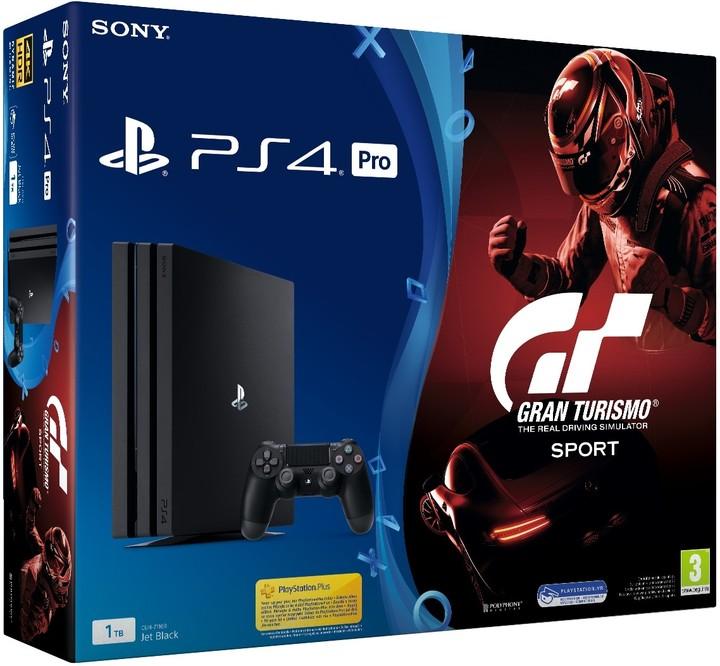 PS4 Pro - Playstation PS4 Pro černý 1TB + Gran Turismo Sport + PS Plus 14 dní