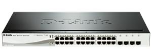 D-Link DGS-1210-24P 24-port 10/100/1000 Gigabit Smart Switch including 4 Combo 1000BaseT/SFP, POE