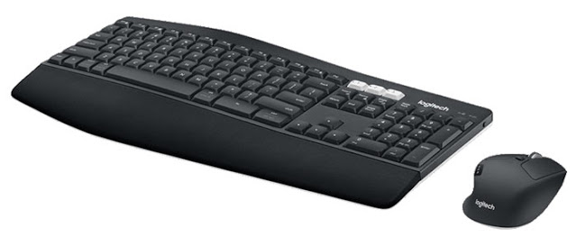 Logitech klávesnice s myší MK850 Performance, CZ (vlisováno v ČR), černá