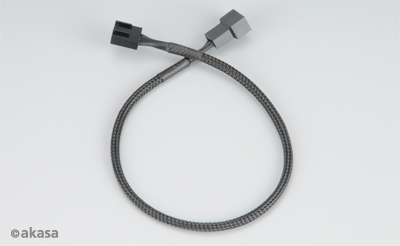 AKASA PWM fan extension cable, 30cm cable with 4pin connectors for PWM and 3pin fans