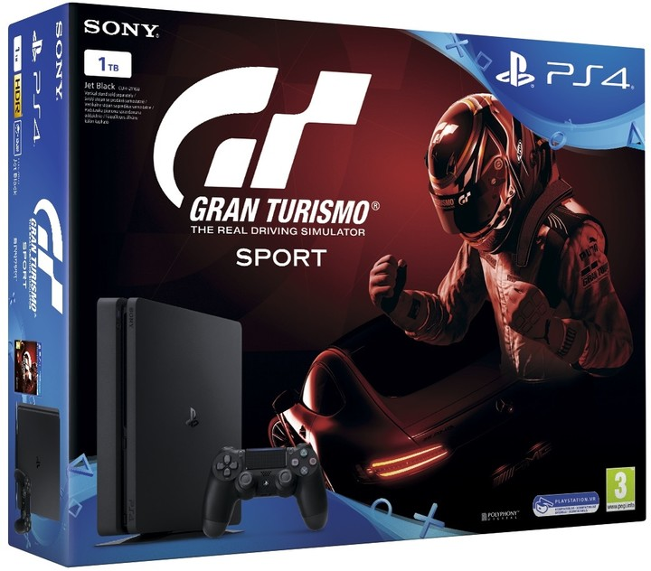 PS4 - Playstation 4 1TB + Gran Turismo Sport + PS Plus 14 dní