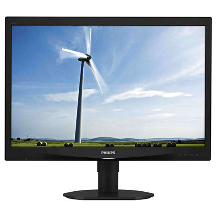 "24"" LED Philips 240S4QMB-WUXGA,PLS,DVI,rep,piv"