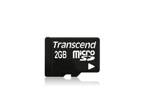 Transcend 2GB microSD paměťová karta (bez adaptéru)