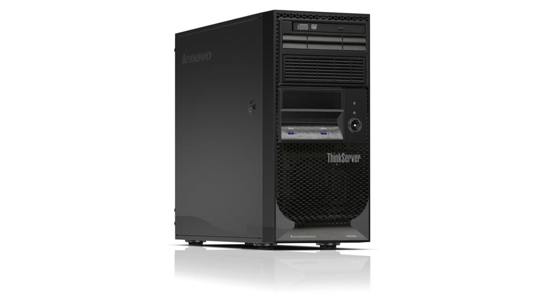 """Lenovo TS150 Xeon 4C E3-1225v 3.3GHz/2400MHz/1x8GB/2x1TB SATA SS 3,5""""(4)/RAID121i/DVD-RW/AMT/250W fixed /Warr 3-year"""