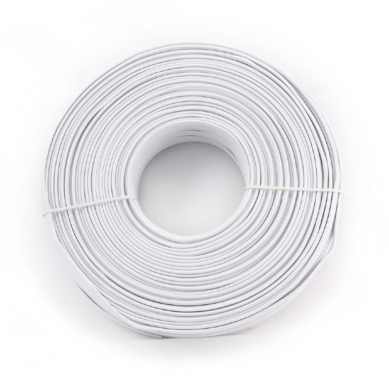 Kabel Telefonní drát 100m bílý