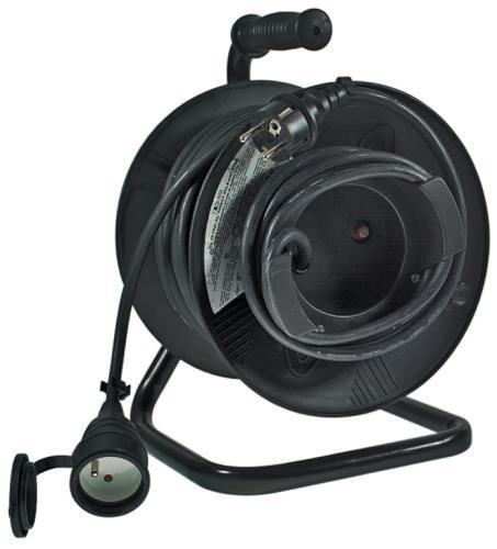 Emos prodlužovací buben - 1 zásuvka, 50m, 1.5mm, guma
