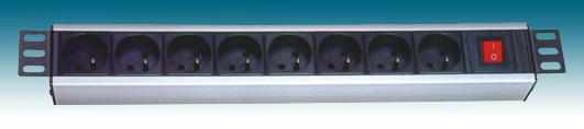 "PremiumCord 19"" PDU, 1.5U, 8x230V, 2m kabel Euro, vypínač"