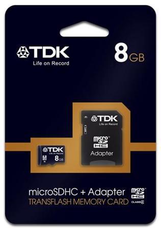 TDK micro SDHC Card 8GB class 4 + adapter