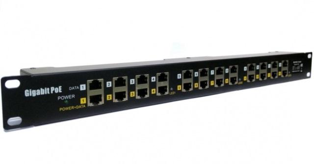 Gigabitový stíněný 12-portový pasivní POE panel