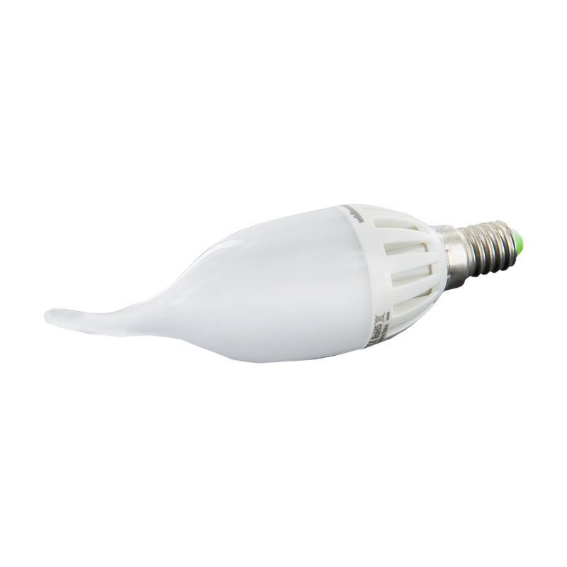 WE LED žárovka 6xSMD 3W E14 teplá bílá–svíčka CA37
