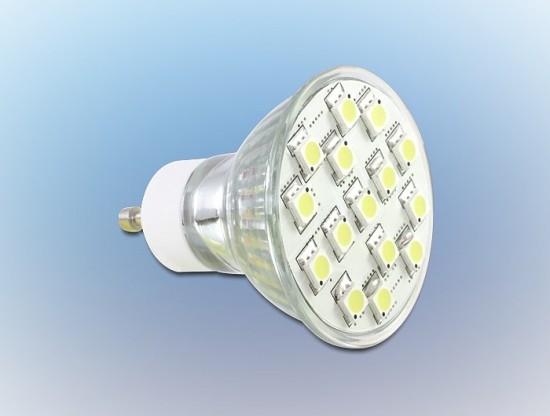 Delock LED GU10 15x SMD, bílá teplá , 3,5W/180 lumen