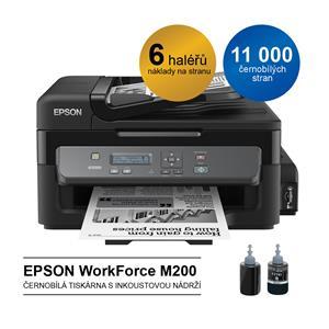 EPSON WorkForce M200, A4, MF, 34 ppm, mono, ITS