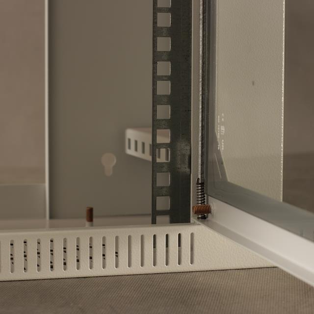 Závěsný rozvaděč 19'' Netrack 4,5U/240 mm, skleněné dveře, barva šedá