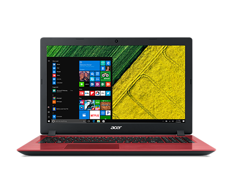 "Acer Aspire 3 (A315-51-31XP) i3-6006U/4GB+N/1TB+N/HD Graphics/15.6"" FHD LED matný/BT/W10 Home/Red"