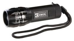 Emos LED svítilna FL73086, 3W dioda, fokus, 3x AAA