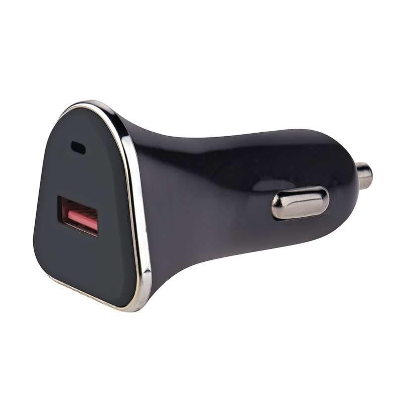 Emos napájecí zdroj USB CL QuickCharge3.0, 3A (18W), 1x USB, do auta