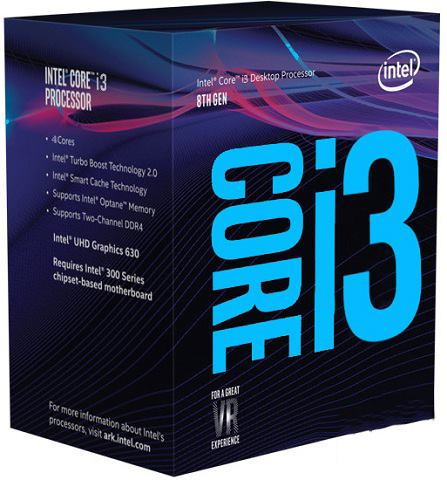 CPU INTEL Core i3-8100 BOX (3.6GHz, LGA1151)