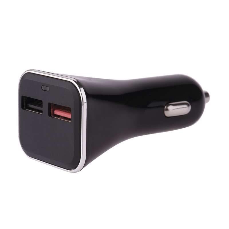 Emos napájecí zdroj USB CL QuickCharge3.0, 3A (28.5W), 2x USB, do auta