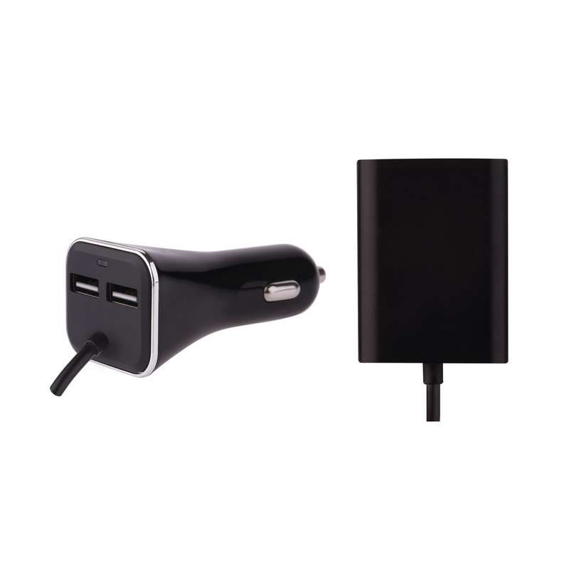 Emos napájecí zdroj USB CL 7.3A (36.5W), 2+2 USB, do auta