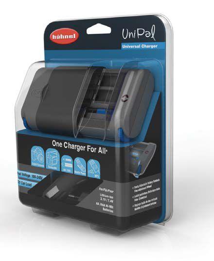Hähnel UNIPAL - univerzální nabíječka, USB, na všechny typy baterií (Li-Ion, AA/AAA Ni-MH), blistr