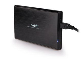 Natec RHINO Externí box pro 2.5'' SATA HDD, USB 3.0, hliníkový, černý