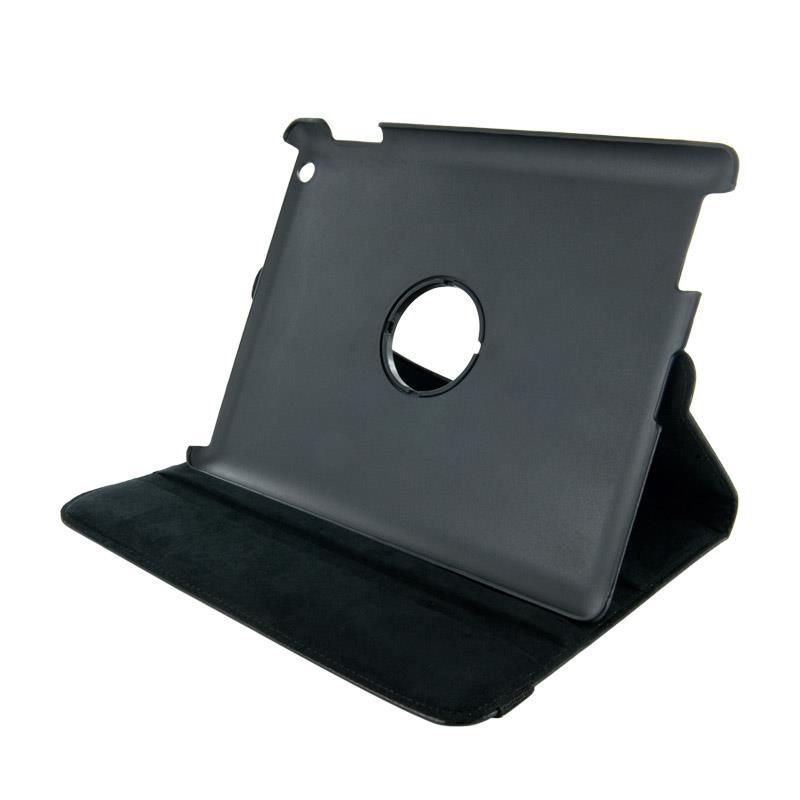 4World sada Pouzdro s nohou pro iPad 2/3/4, rotační, černý + Stylus