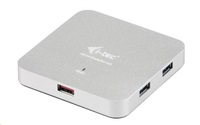 iTec USB 3.0 Hub 4+1-Port Metal s napájecím adaptérem