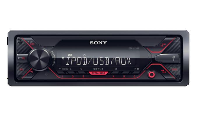 SONY DS-XA210UI Autorádio (1 DIN) bez optické mechaniky s širokými možnostmi propojení