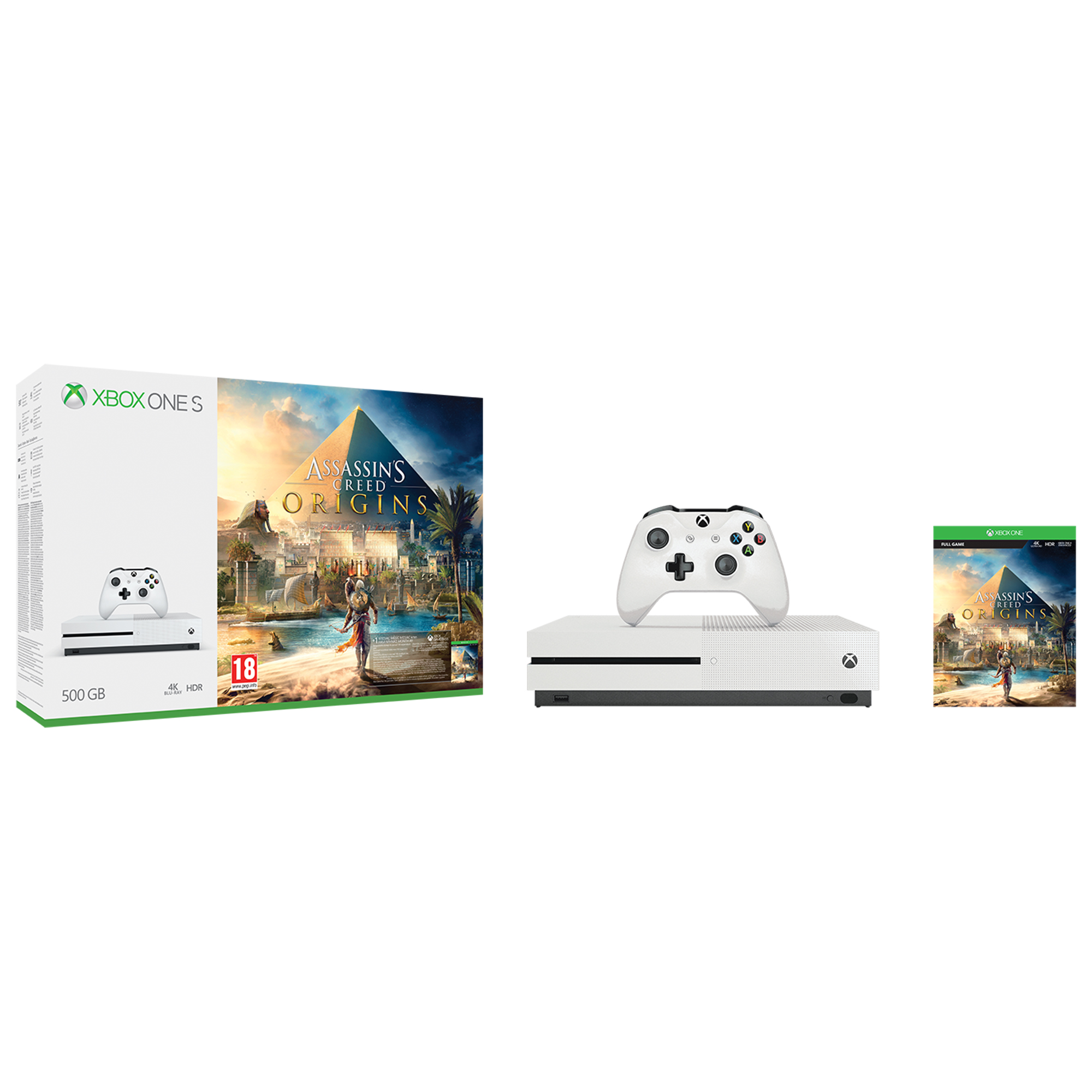 Xbox One S 500GB + Assasin's Creed: Origins
