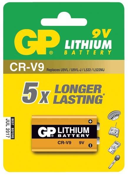 Lithiová Baterie GP CR-V9 9V 1ks