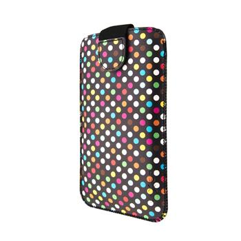 Pouzdro FIXED Soft Slim, XXL, Rainbow Dots